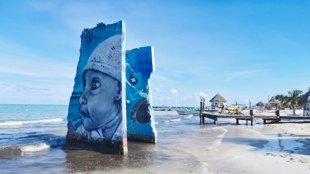 Mini Roadtrip Mexico Isla Holbox streetart4
