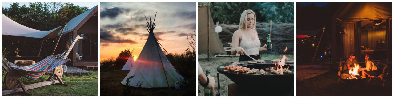 For rest Glamping collage