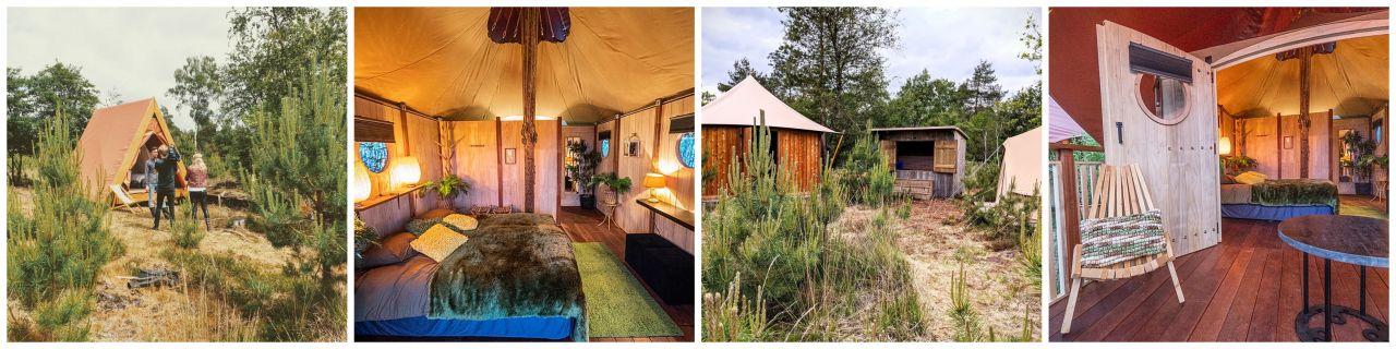 Glamping Outdoor Camp collage 1
