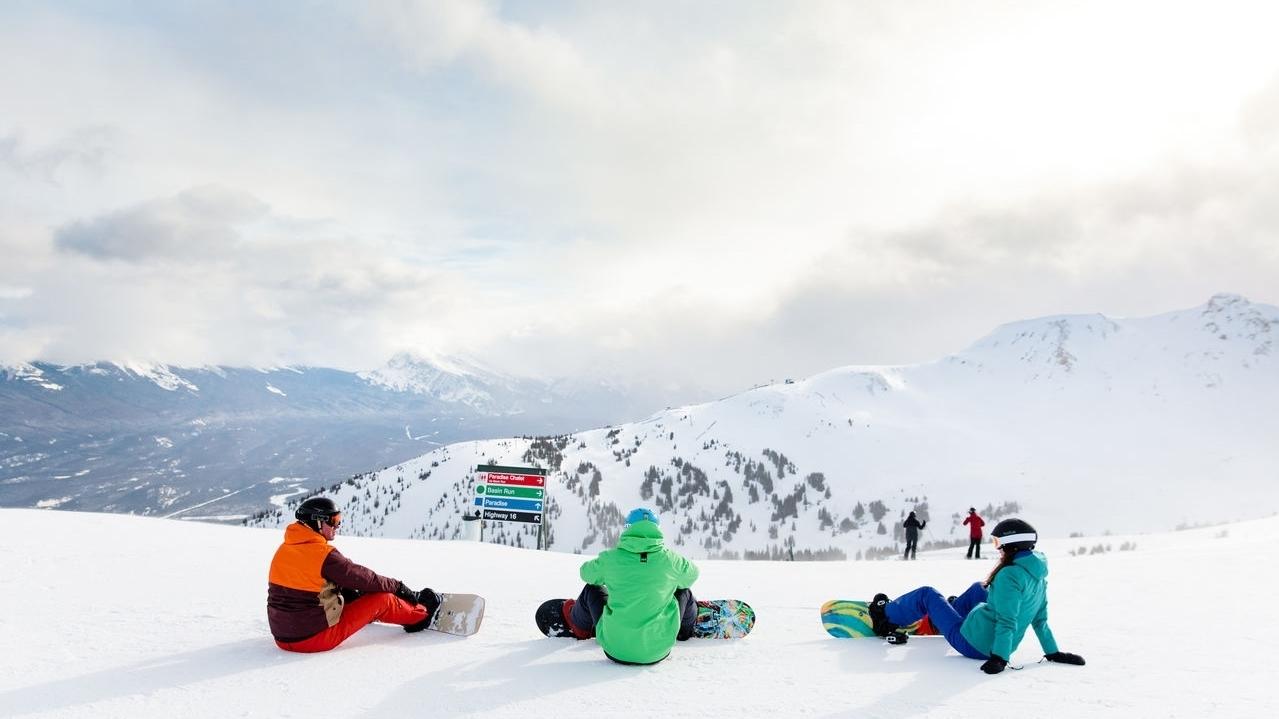 Marmot Basin Snowboarders