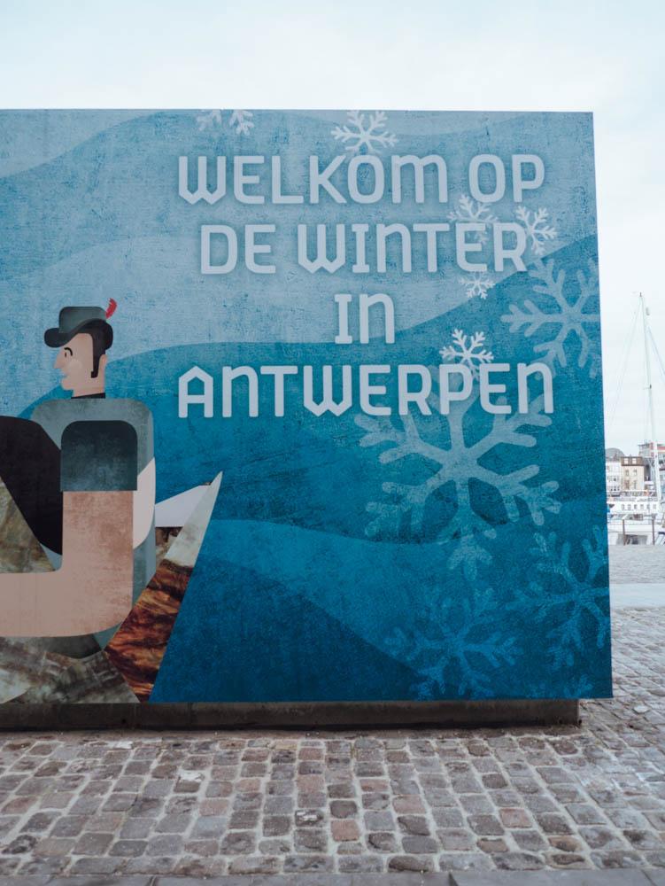 Street Art winter in Antwerpen 2