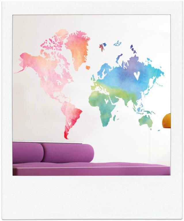 WereldkaartWaterverf2