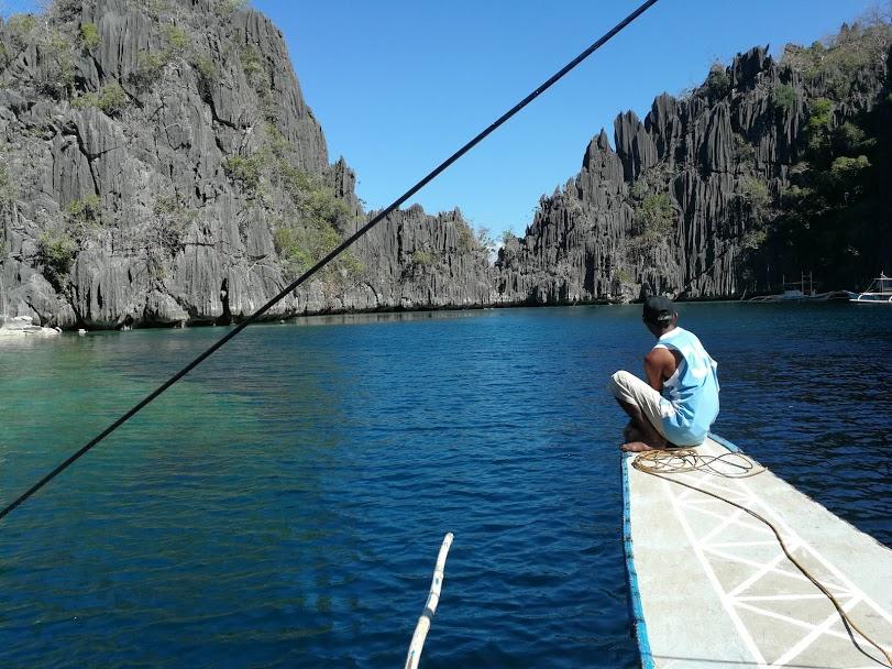 Foto twin lagoon man