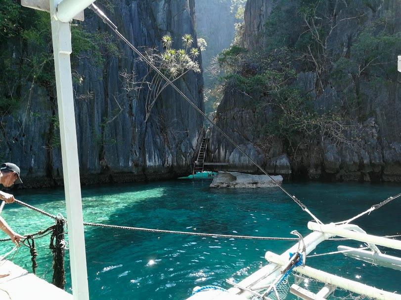 foto twin lagoon Filipijnen