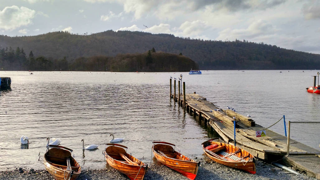 Rowing boats Lake Windermere England