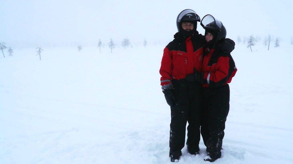 sneeuwscooter safari Rovaniemi Lapland