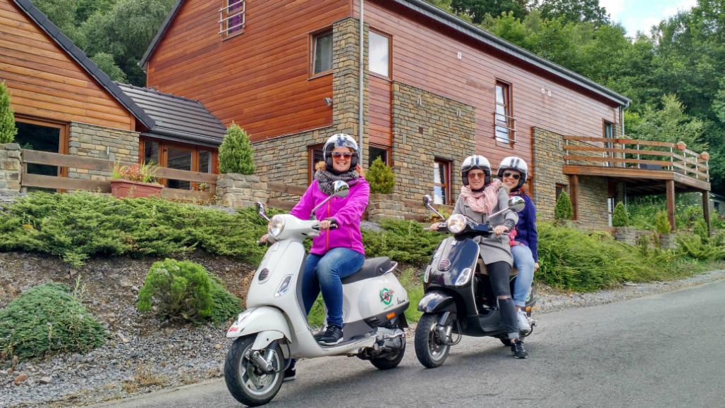 Ardennen scooter Vespa rijden
