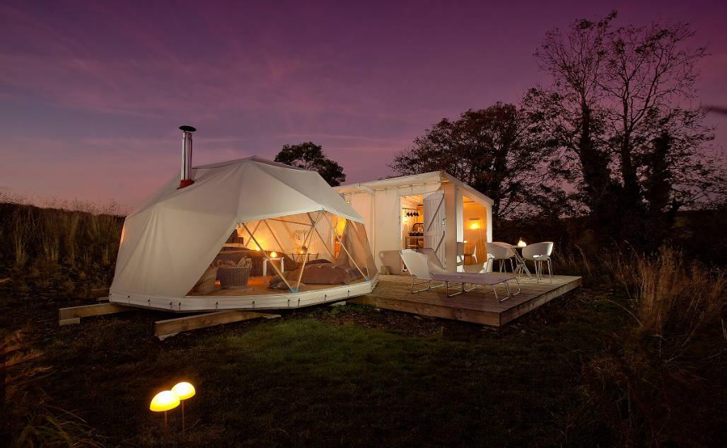 geo ekopod bijzonder overnachten natuur Tintagel Engeland