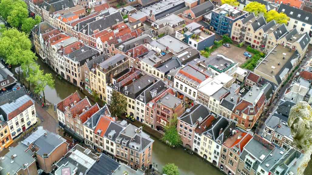 Utrecht uitzicht vanaf de Dom
