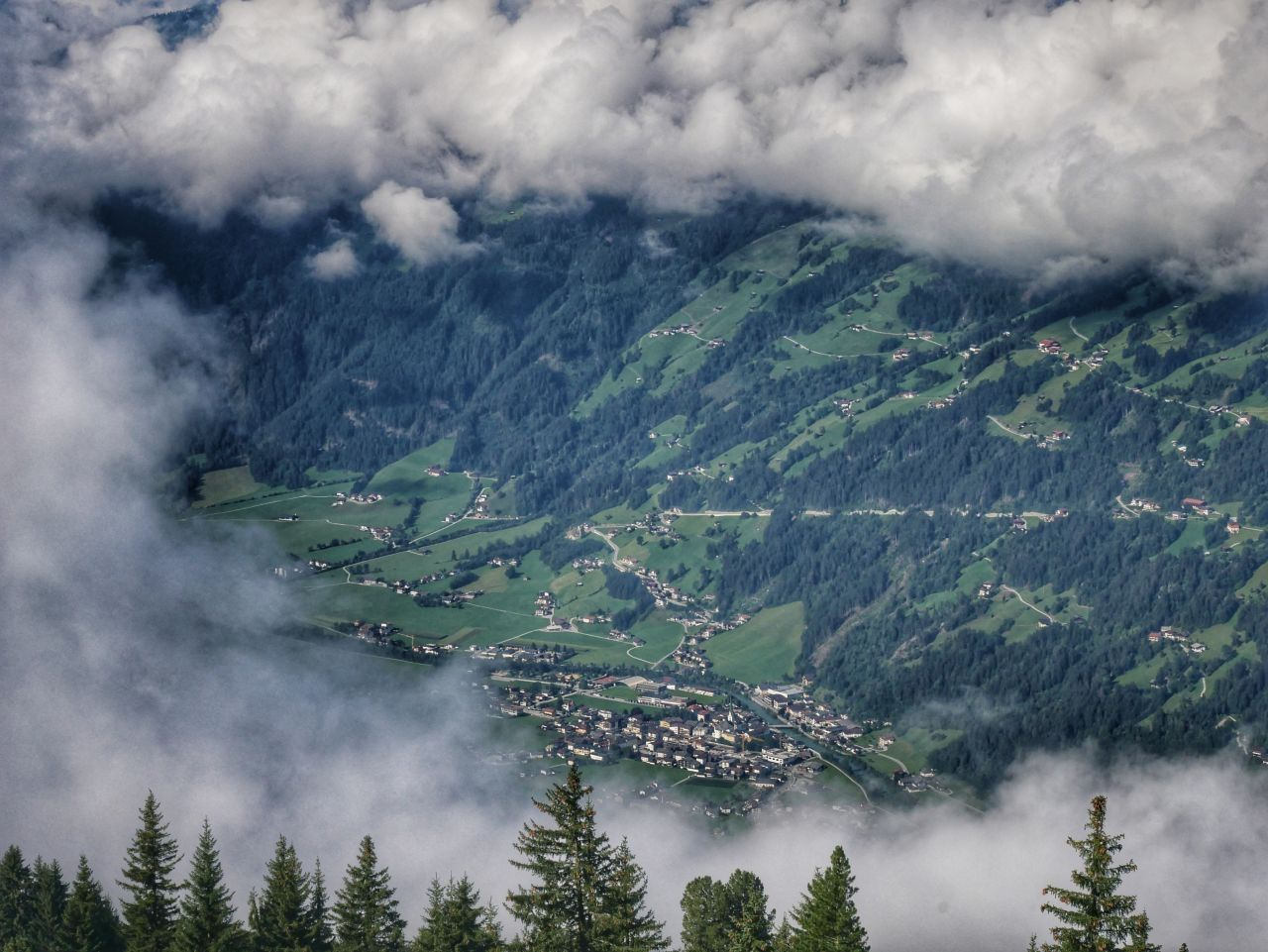 Zillertal Tirol Oostenrijk uitzicht