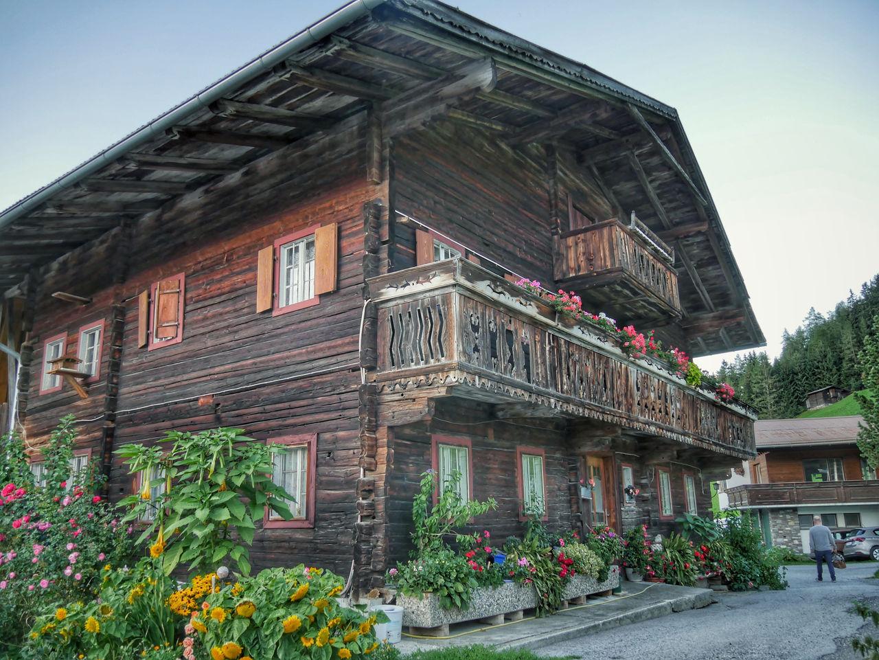 Zillertal Tirol Oostenrijk oude huisjes