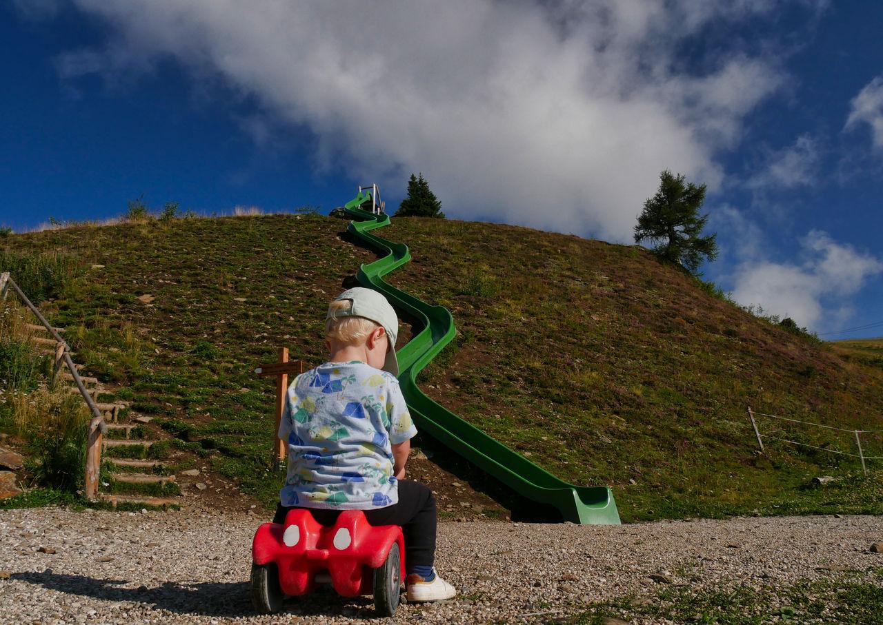 Gitschberg Jochtal Zuid Tirol speeltuin bergtop