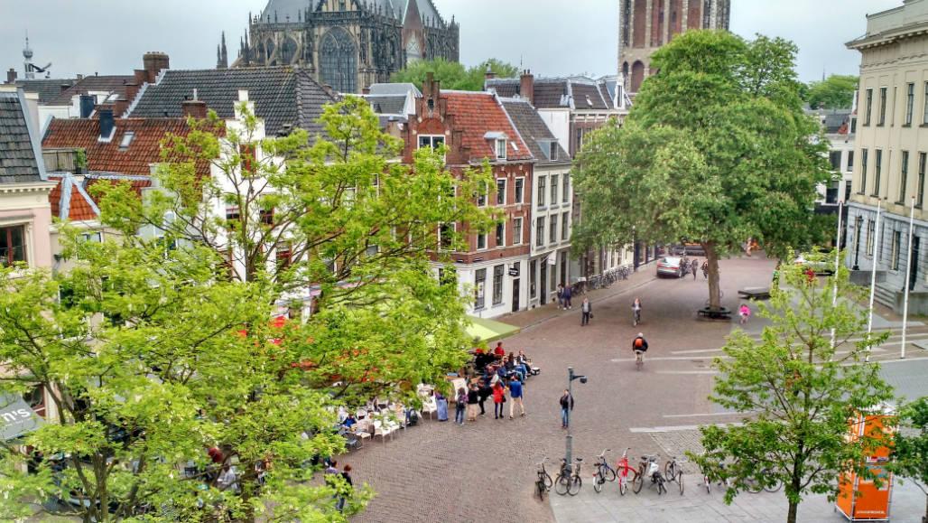 Mother Goose hotel Utrecht uitzicht Ganzenmarkt
