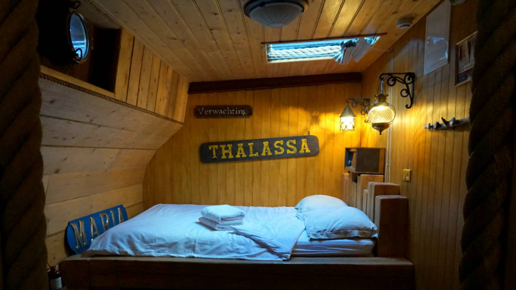 BB Opoe Sientje Nijmegen slapen op een boot