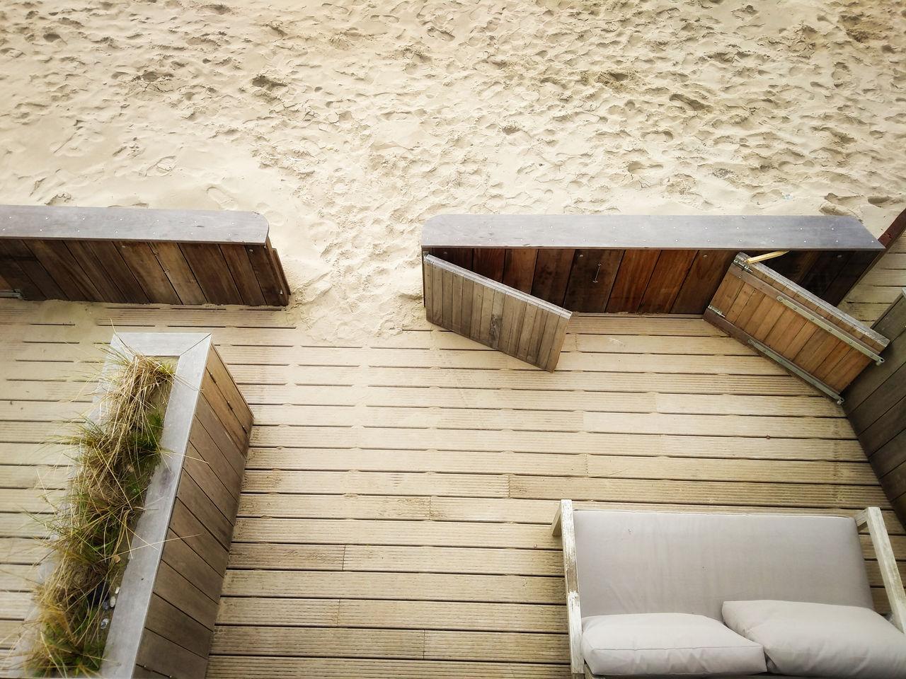 Pier 7 Vlissingen slapen op het strand terras