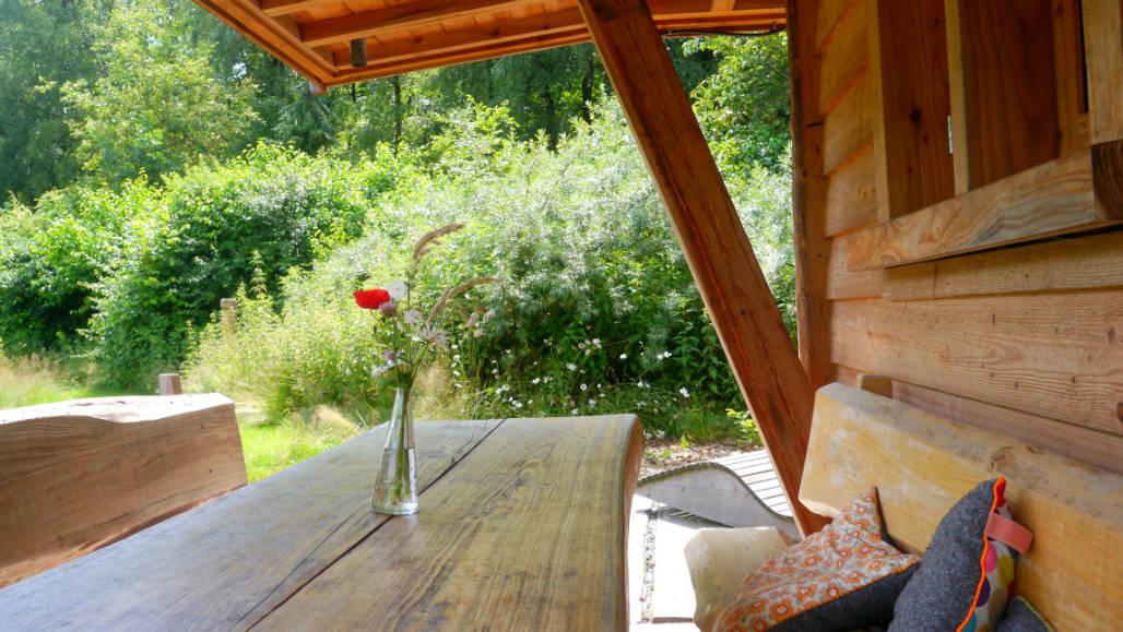 Vakantiehuisje Veluwe houten natuurhuis