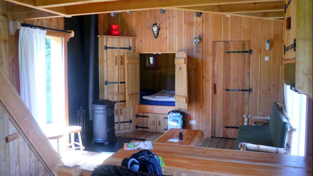 Veluwse Zwerfhut Veluwe interieur hout