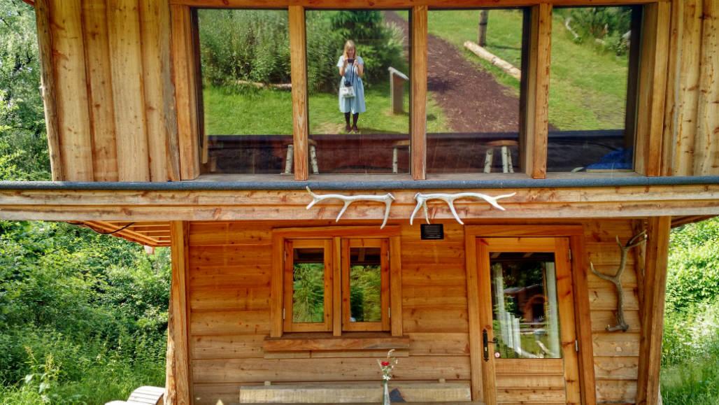 Veluwse Zwerfhut houten huisje Veluwe